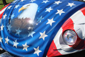 American Flag Custom Golf Cart