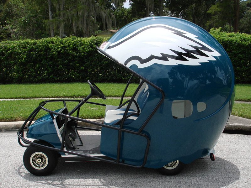 eagles football helmet golf car
