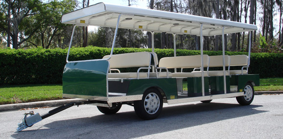 Passenger Trailers - Tram Trolleys - Diversified Golf Cars, Inc. - Orlando, FL
